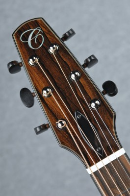 Ziricote with Ebony binding and Schertler Tuners